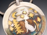 Gold Clay Pendant By Claudia S Atkins