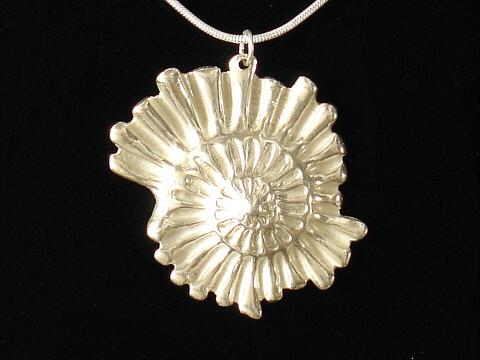Art Clay Silver Pendant By Hilary Bowen