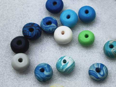 Polymer Clay Beads By LiasonWithAlison.