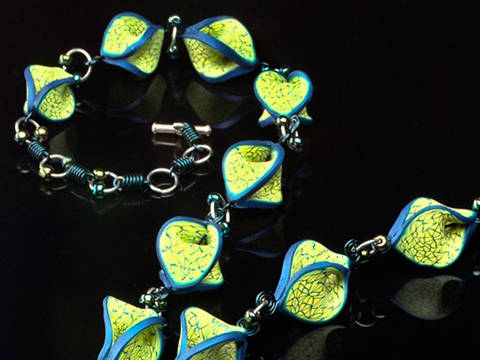 Polymer Clay Necklace By Facet Jewellery.