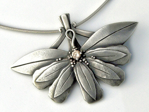 Art Clay Silver Pendant By Petra Cameron